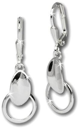 SilberDream Damen-Ohrringe Blättchen 925er Sterling Silber SDO549 -
