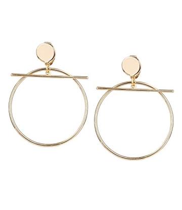 """SIX """"Trend"""" große Damen Ohrclips mit goldenen Ringen und Stäben, keine Ohrlöcher benötigt, Party, It-Piece, Fashion (434-531) -"""