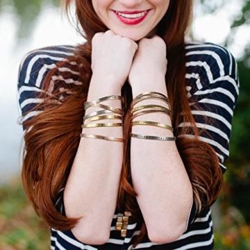 SOLOCUTE Rosegold Damen Armband mit Gravur