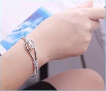 StillCool® shifashionshop Damen Schmuck Silber Kette Armband Armreif Armbänder -