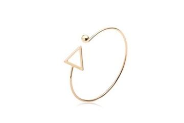 Sunnywill Hohle Dreieck Arm Manschette Armbinde Armband Armreif Armband trendigen Schmuck für Frauen Mädchen Damen (Gold) -