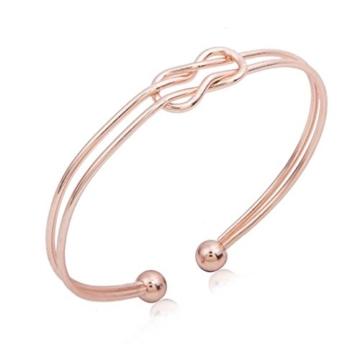 Sunnywill Mode Geometrische Manschette Charme Offen Hohlen Armband Armreif Schmuck für Frauen Mädchen Damen (Gold) -