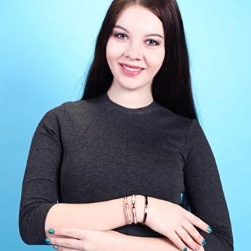 Wistic Dame Armreifen Edelstahl Gold überzog Bling Bling Armband mit Kristall Weihnachtsgeschenk(gold) -