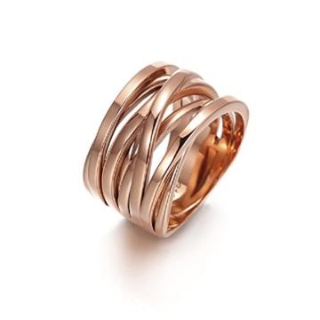Wistic jewelry Damen Ring Edelstahl vergoldet -