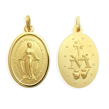 Wundertätige Madonna Immaculata Milagrosa Marienanhänger Medaille glatter Rand -