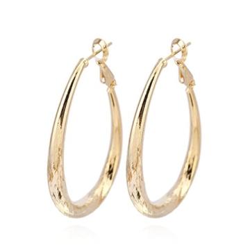 X&Y Angel ER0341 Creolen für Damen, dicker Ring, gefüllt mit 18-karätigem Gold, 1 Paar -