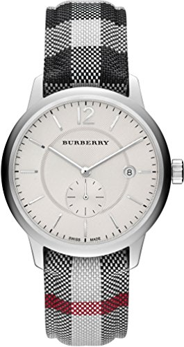 burberry herren 40mm multi color stoff armband edelstahl geh use uhr bu10002 zandor online. Black Bedroom Furniture Sets. Home Design Ideas