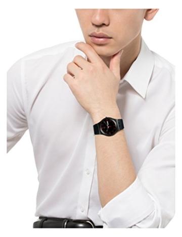 Swatch Herren-Armbanduhr Analog Quarz Silikon SUOB714 -