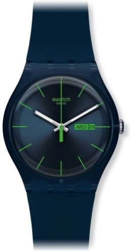 Swatch Herren-Armbanduhr Blue Rebel Analog Quarz SUON700 -