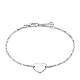 Thomas Sabo Damen-Armband Glam & Soul Herz 925 Sterling Silber Länge von 16.5 bis 19.5 cm A1392-001-12-L19,5v -