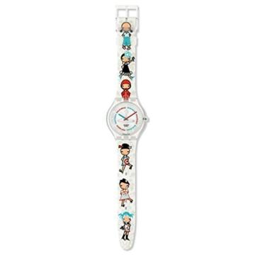 Uhr Swatch Touch stgk103Quarz (Batterie) Kunststoff Quandrante Silber Armband Kunststoff -