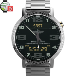 Breitling Aerospace World Timer Watch Face Android wear wmwatch - 1