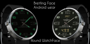 Breitling Aerospace World Timer Watch Face Android wear wmwatch - 2
