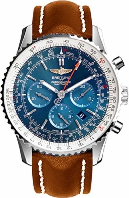 Breitling Navitimer 01Herren-Armbanduhr, Lederarmband, Edelstahl, Braun, AB012721/C889–443X  - 1