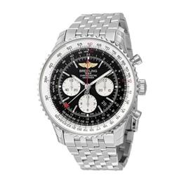 """Breitling, """"Navitimer GMT"""", Herren-Armbanduhr mit schwarzem Zifferblatt, AB044121/BD24 - 1"""