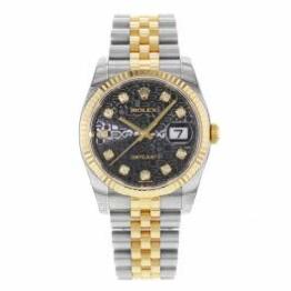 Rolex Datejust 116233BKJDJ Herren-Armbanduhr, 18 Karat Gelbgold, Stahl - 1