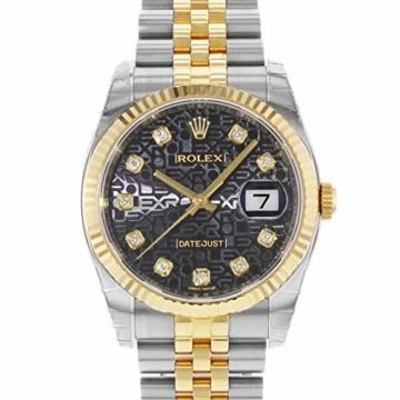 Rolex Datejust 116233BKJDJ Herren-Armbanduhr, 18 Karat Gelbgold, Stahl - 3