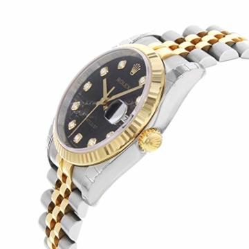 Rolex Datejust 116233BKJDJ Herren-Armbanduhr, 18 Karat Gelbgold, Stahl - 4