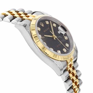 Rolex Datejust 116233BKJDJ Herren-Armbanduhr, 18 Karat Gelbgold, Stahl - 5
