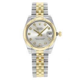 Rolex Datejust 178273 Uhr Stahl Gelbgold Diamant Silber Diamant Mittelgröße - 1