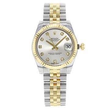 Rolex Datejust 178273 Uhr Stahl Gelbgold Diamant Silber Diamant Mittelgröße - 2