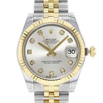 Rolex Datejust 178273 Uhr Stahl Gelbgold Diamant Silber Diamant Mittelgröße - 3