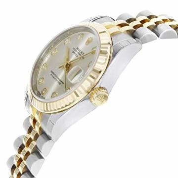 Rolex Datejust 178273 Uhr Stahl Gelbgold Diamant Silber Diamant Mittelgröße - 4
