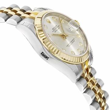 Rolex Datejust 178273 Uhr Stahl Gelbgold Diamant Silber Diamant Mittelgröße - 5