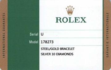 Rolex Datejust 178273 Uhr Stahl Gelbgold Diamant Silber Diamant Mittelgröße - 8