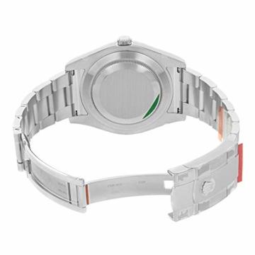 Rolex Edelstahl Automatisch Datejust Silber Herren Uhr Stahl Zifferblatt II - 4