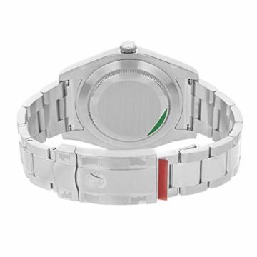 Rolex Edelstahl Automatisch Datejust Silber Herren Uhr Stahl Zifferblatt II - 5