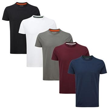 Charles Wilson 5er Packung Einfarbige T-Shirts mit Rundhalsausschnitt (3X-Large, Basics) - 2