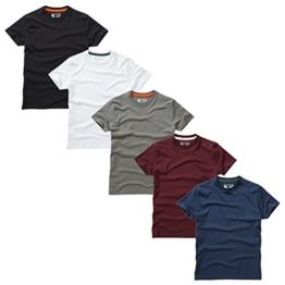Charles Wilson 5er Packung Einfarbige T-Shirts mit Rundhalsausschnitt (3X-Large, Basics) - 1