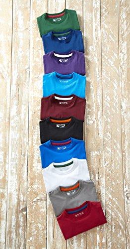 Charles Wilson 5er Packung Einfarbige T-Shirts mit Rundhalsausschnitt (3X-Large, Basics) - 4