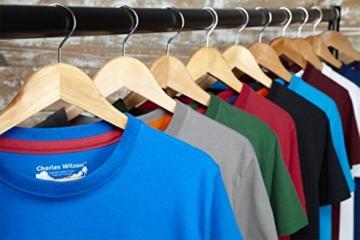 Charles Wilson 5er Packung Einfarbige T-Shirts mit Rundhalsausschnitt (3X-Large, Basics) - 5